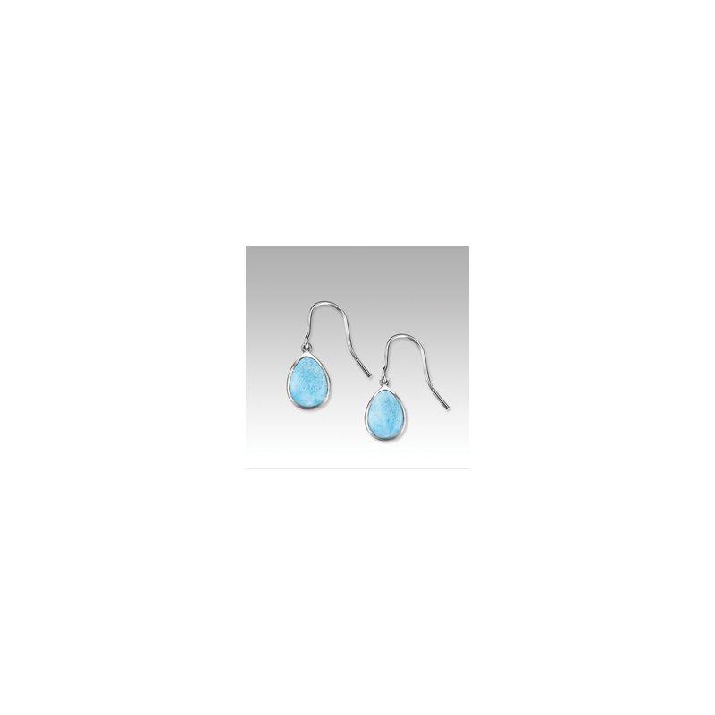 Marahlago Larimar Marahlago Basic Collection Pear Shaped Larimar Dangle Earrings