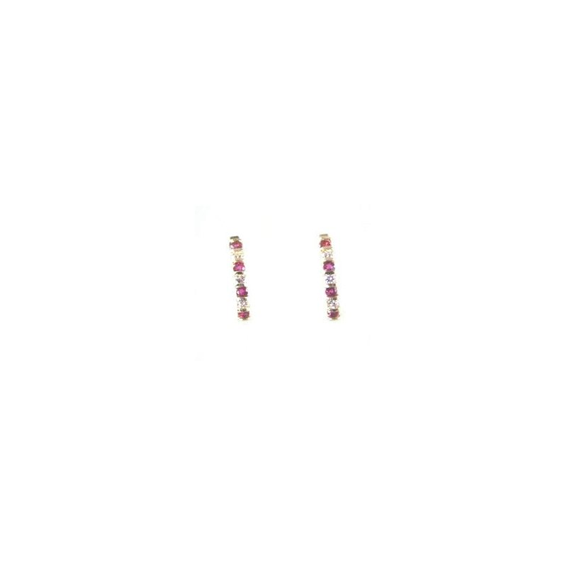 Signature Collection Genuine Ruby & Diamond Earrings