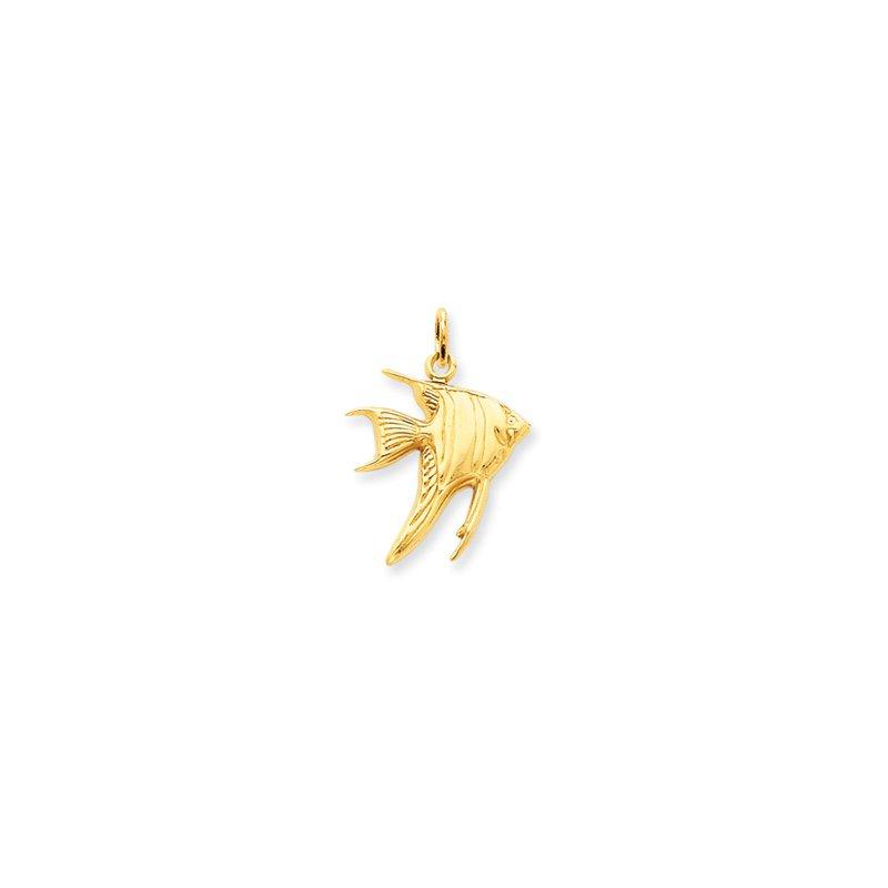 Sealife Jewelry 14k Yellow Gold Angelfish Charm