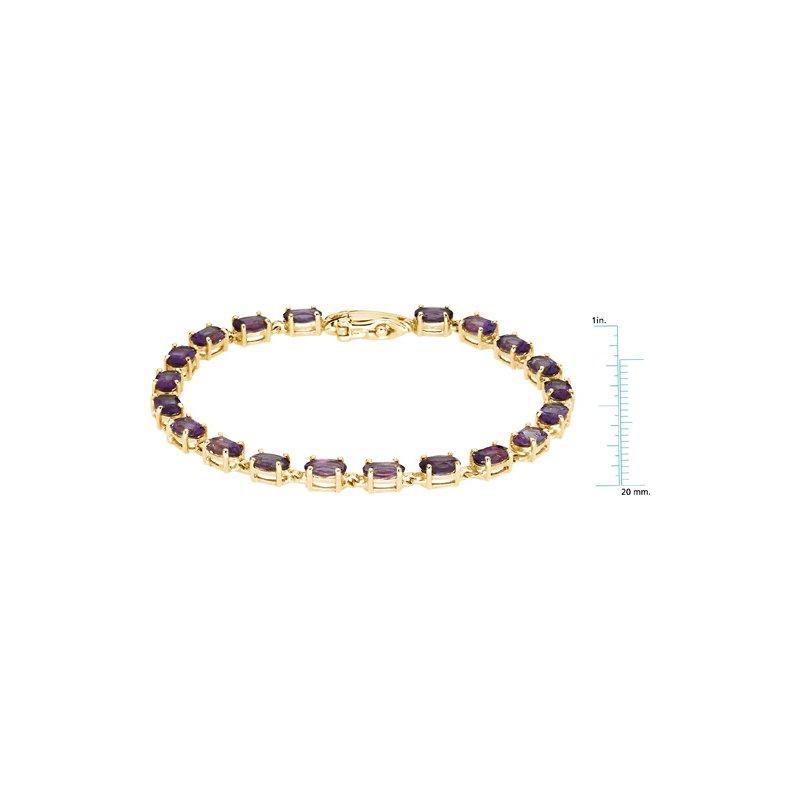 Signature Collection Genuine Amethyst Bracelet
