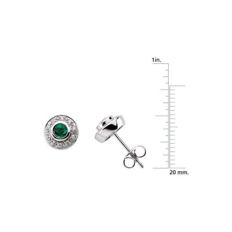 Signature Collection Genuine Emerald & Diamond Earrings - EL419134