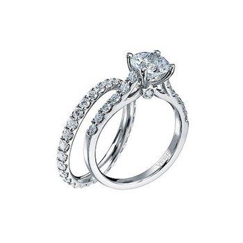 Verragio Classico-0359 - 14k White Gold Diamond Engagement Ring by Verragio
