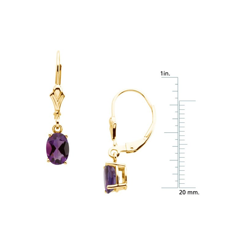 Signature Collection Genuine Amethyst Earrings