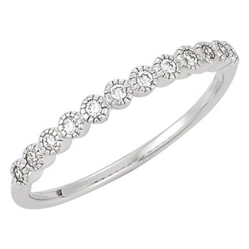 Ladies' 14k White Gold Diamond Anniversary or Wedding Ring - #41385W