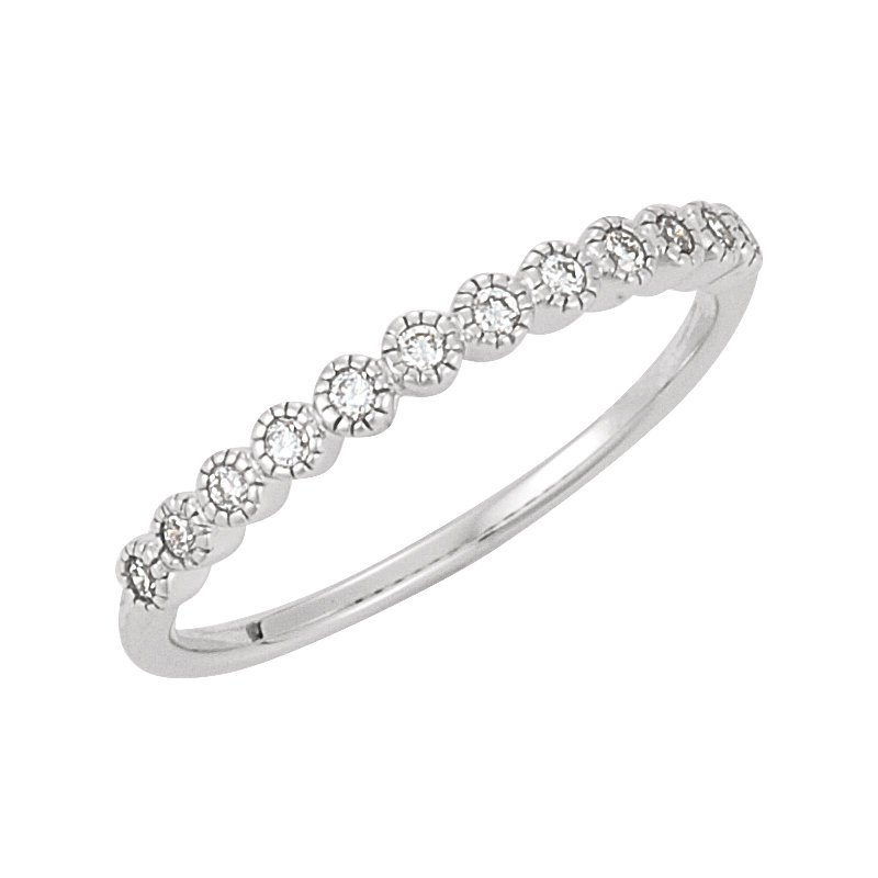 Signature Collection Ladies' 14k White Gold Diamond Anniversary or Wedding Ring - #41385W