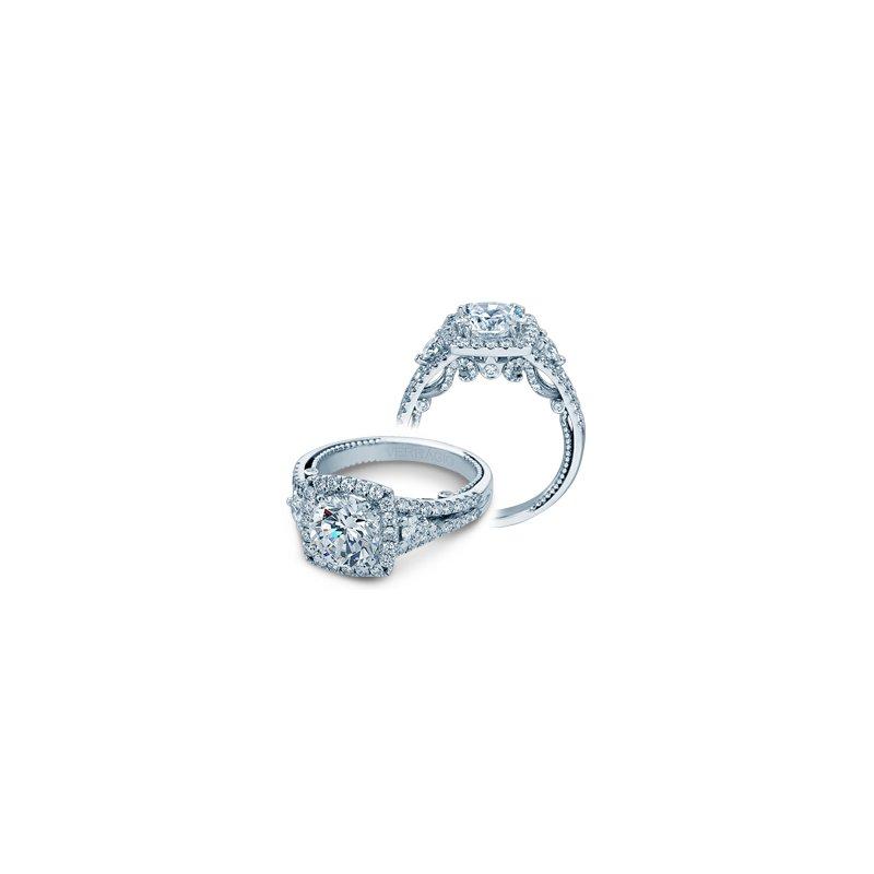 Verragio Verragio Insignia 7068CUL- 14k White Gold Cushion Halo Diamond Engagement Ring by Verragio