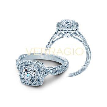 Verragio Classic V-918CU - 14k White Gold Diamond Engagement Ring by Verragio