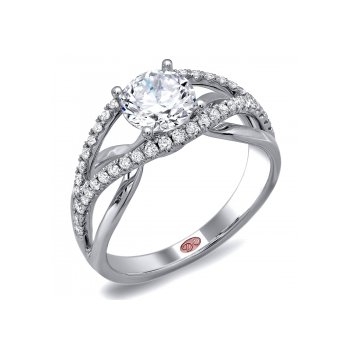 Demarco DW5708 - 18k White Gold Engagement Ring by Demarco