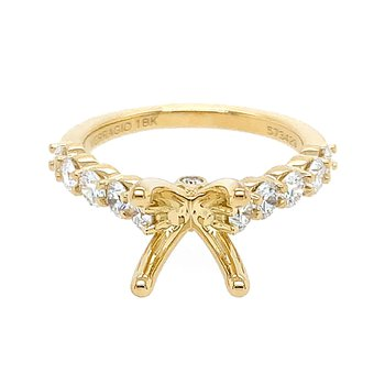 Verragio Couture ENG-0410LR in 18k Yellow Gold