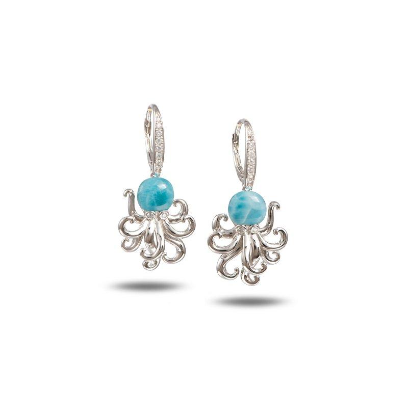 Alamea Larimar  Alamea Sterling Silver Larimar Dangle Octopus Earrings