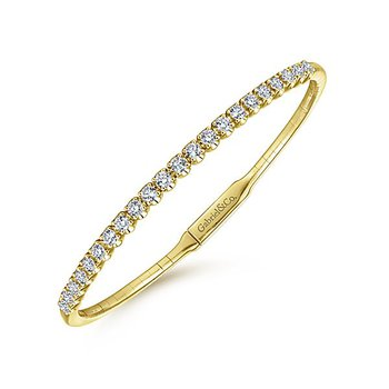 14k Yellow Gold Diamond Bangle Bracelet by Gabriel NY
