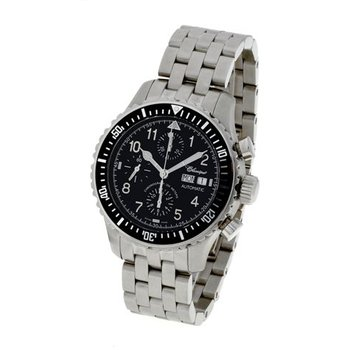 Classique Gents Stainless Steel Automatic Swiss Made Chronograph Watch - #35814