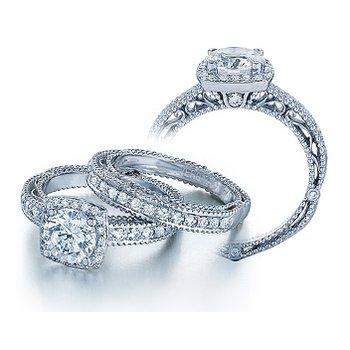 Verragio Venetian 5004 - 18k White Gold Diamond Engagement Ring by Verragio
