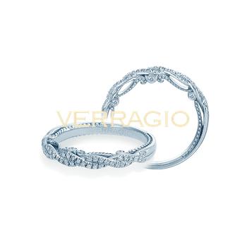 Verragio Insignia 7074W - 14k White Gold Diamond Twist Band