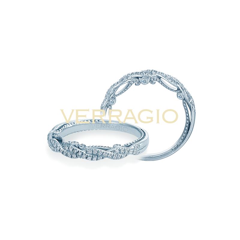 Verragio Verragio Insignia 7074W - 14k White Gold Diamond Twist Band