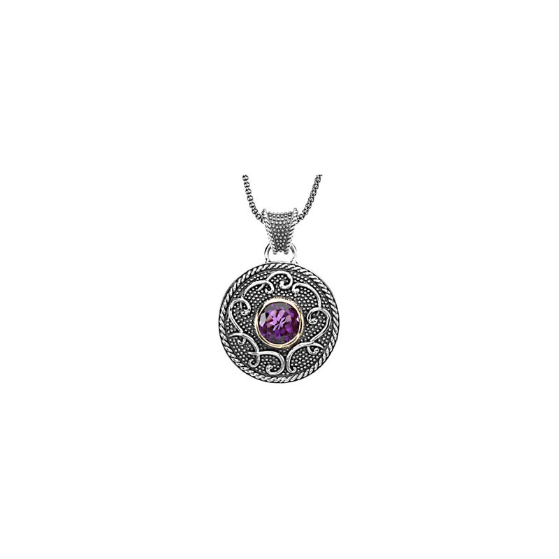 Signature Collection Genuine Amethyst Necklace