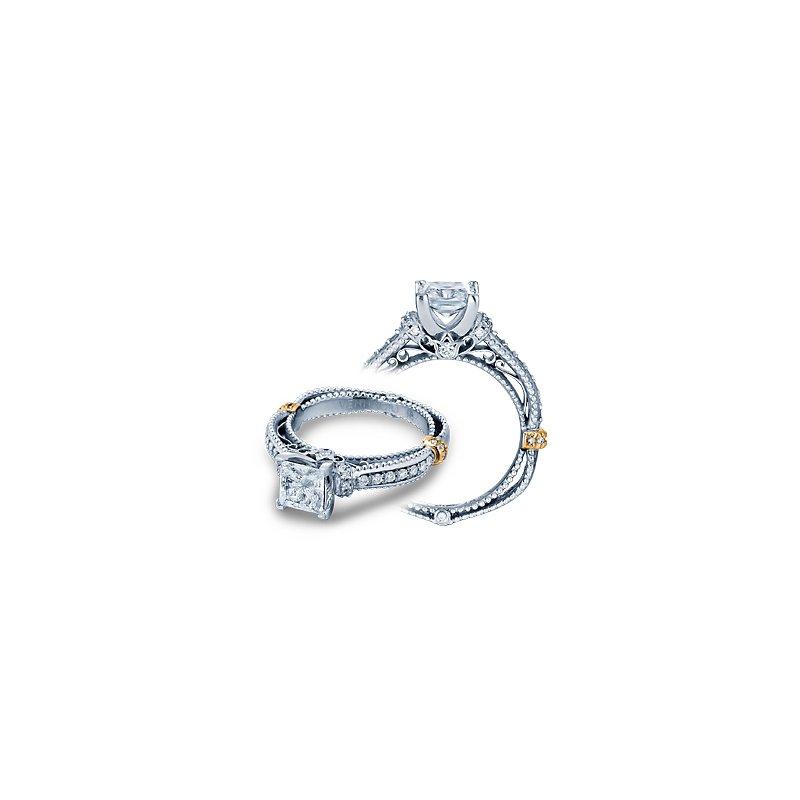 Verragio Verragio Venetian 5039P - 14k White and Rose Gold Princess Cut Diamond Engagement Ring by Verragio