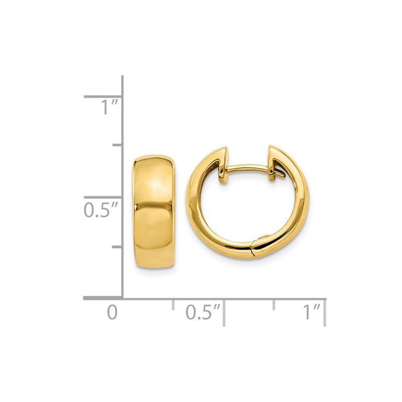Signature Collection 14k Yellow Gold Huggie Earrings