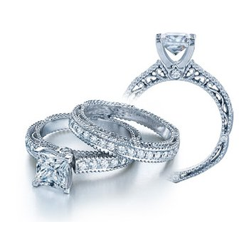 Verragio Venetian 5001P-Platinum Diamond Engagement Ring by Verragio
