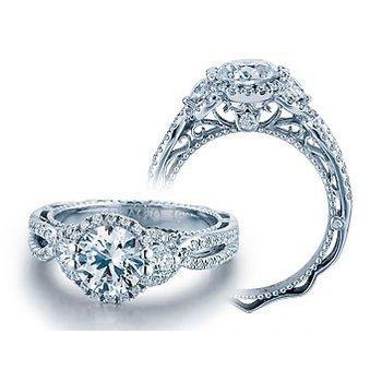 Verragio Venetian 5032R - 18k White Gold Diamond Engagement Ring by Verragio
