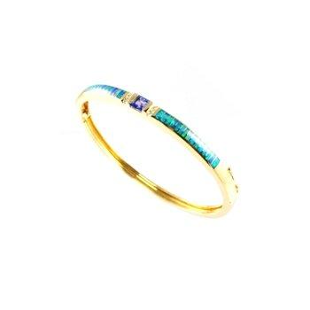 Kabana Australian Opal, Tanzanite & Diamond Bracelet