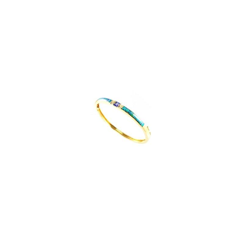 Kabana Jewelry Kabana Australian Opal, Tanzanite & Diamond Bracelet