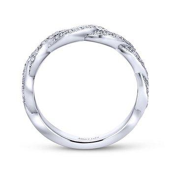 Gabriel NY Platinum Twist Diamond Wedding Ring from the Amavida Collection