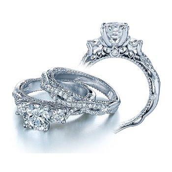 Verragio Venetian 5013R - 18k White Gold Diamond Engagement Ring by Verragio