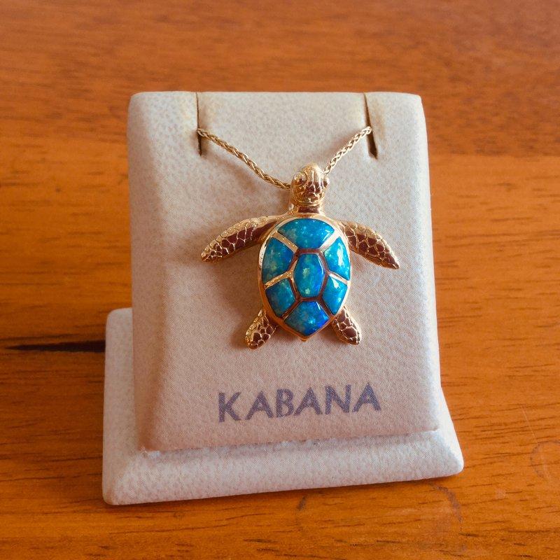 Kabana Jewelry Kabana Australian Opal Inlay Turtle Pendant