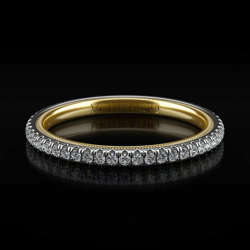 Verragio Tradition Collection Wedding Band - Style TR120W-2WY in 14k Two-Tone Gold