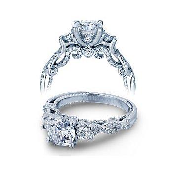 Verragio Insignia 7074R - Verragio Engagement Ring in 14k White Gold with a Twist Shank