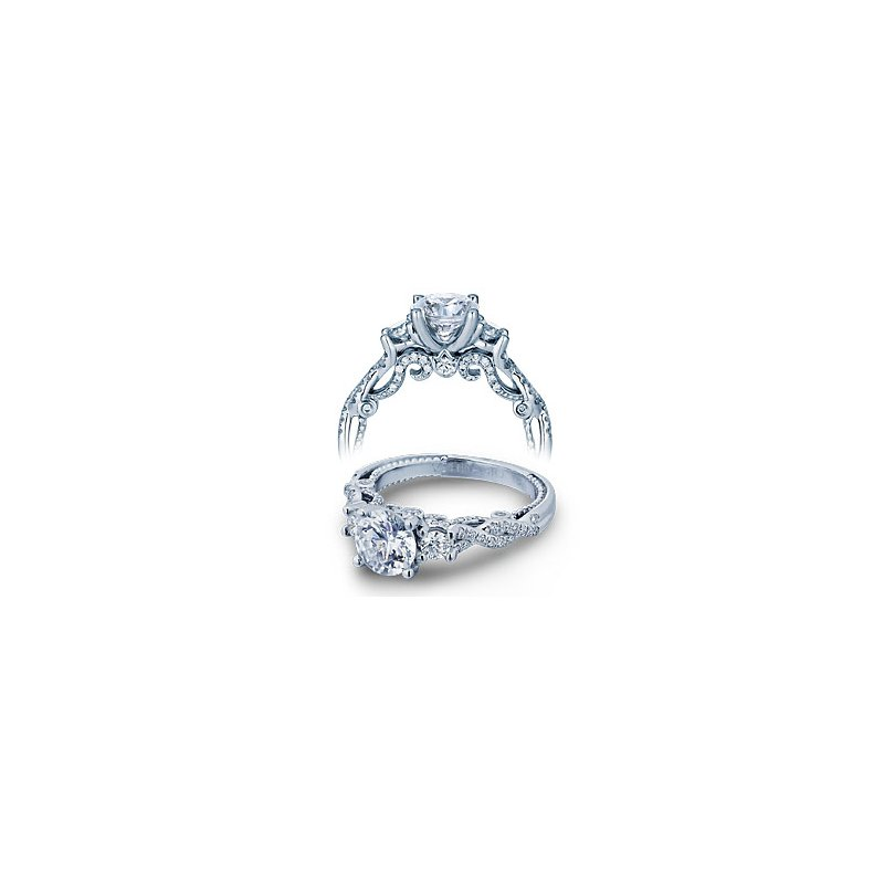 Verragio Verragio Insignia 7074R - Verragio Engagement Ring in 14k White Gold with a Twist Shank