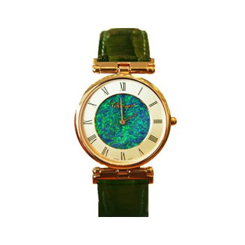 Classique' Watches Genuine Australian Opal Dial Watch - 14-79GP OPD