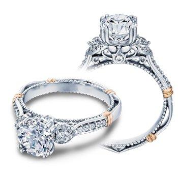 Verragio Parisian D-128 - 14k White and Rose Gold Diamond Engagement Ring by Verragio