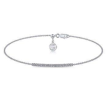 14k White Gold Pave' Diamond Bracelet by Gabriel NY