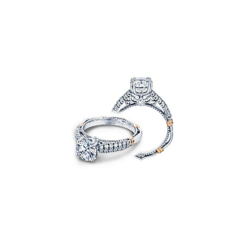 Verragio Verragio Parisian-115 - 14k White and Rose Gold Diamond Engagement Ring by Verragio