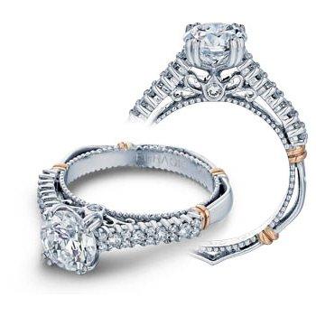 Verragio Parisian-113 - 14k White and Rose Gold Diamond Engagement Ring by Verragio