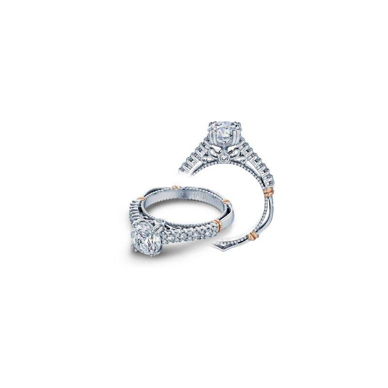 Verragio Verragio Parisian-113 - 14k White and Rose Gold Diamond Engagement Ring by Verragio