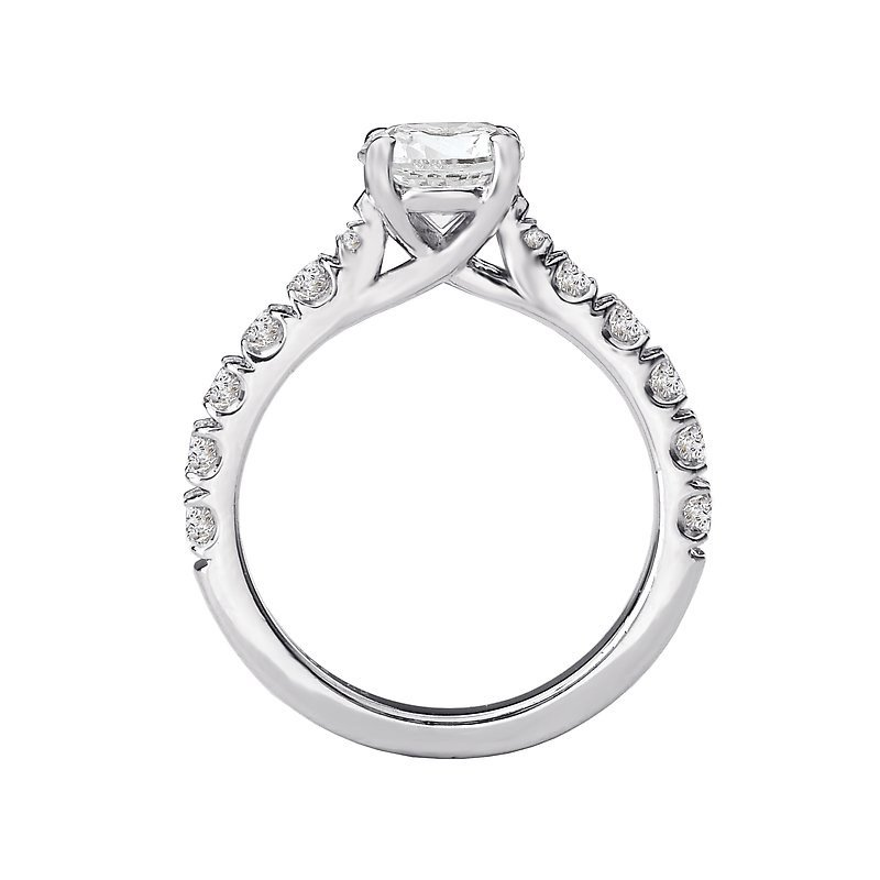 Signature Collection 14k White Gold Prong Set Diamond Engagement Ring