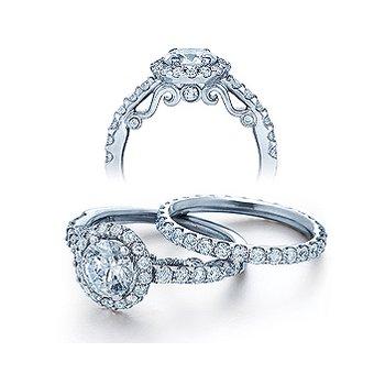 Verragio Insignia 7003 - 18k White Gold Diamond Engagement Ring by Verragio