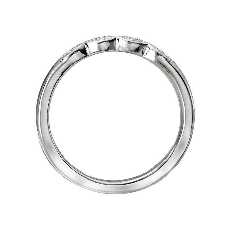 Signature Collection 14k White Gold Baguette 4-Stone Diamond Wedding Ring