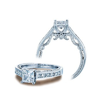 Verragio Insignia 7064P - Verragio Engagement Ring in 14k White Gold with Channel Set Diamonds
