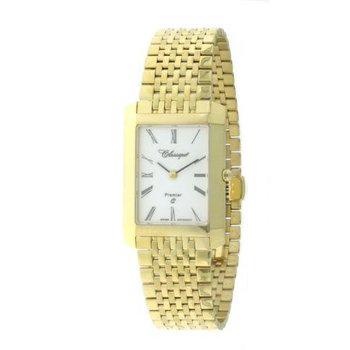 Classsique' Ladies Stainless Steel Gold Plate Premier Watch - #28-126G