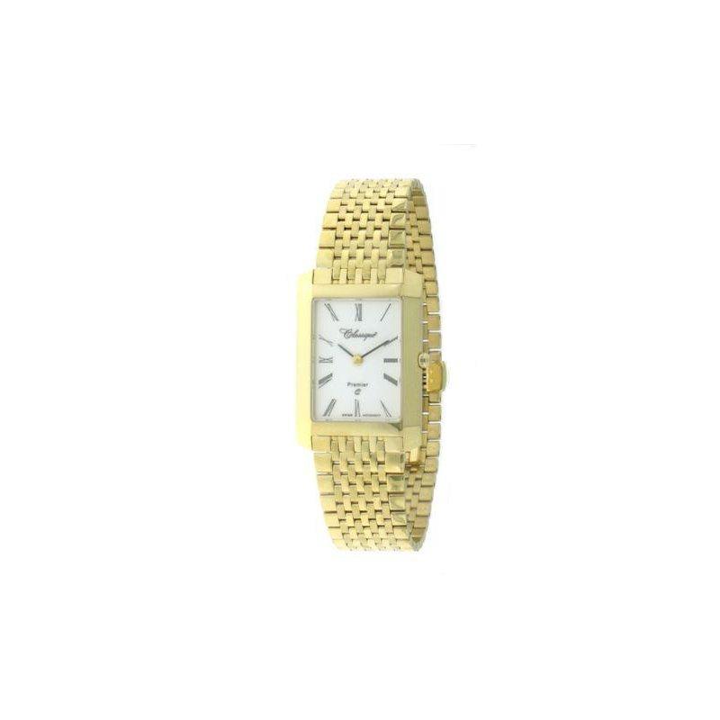 Swiss Watches Classsique' Ladies Stainless Steel Gold Plate Premier Watch - #28-126G