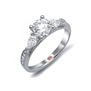 Demarco DW6070 - 18k White Gold Engagement Ring by Demarco