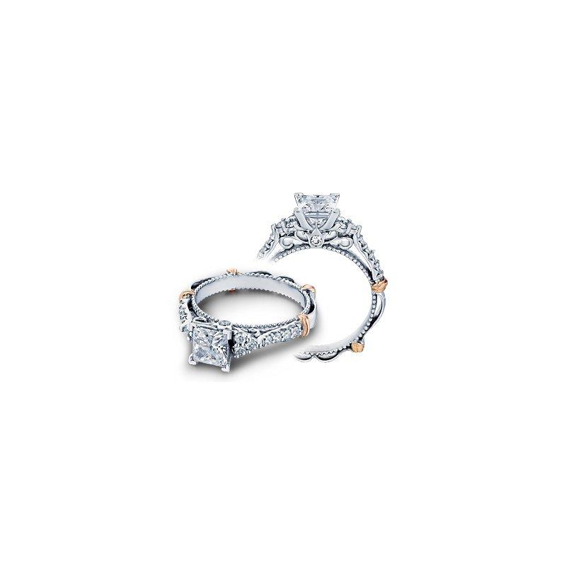 Verragio Verragio Parisian-127P - 14k White and Rose Gold Diamond Engagement Ring by Verragio