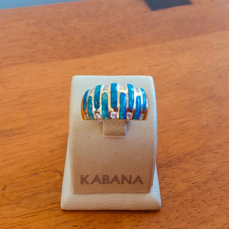 Kabana Jewelry Kabana Australian Opal Inlay and Diamond Ring - Style #34313