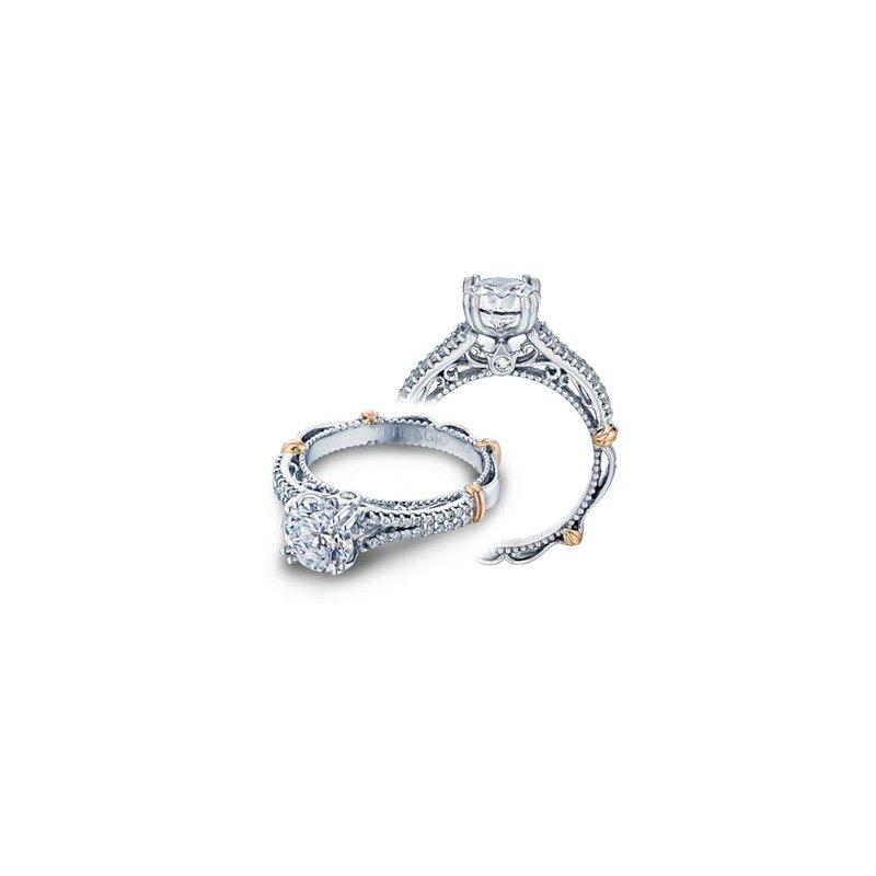 Verragio Verragio Parisian-111 - 14k White and Rose Gold Diamond Engagement Ring by Verragio
