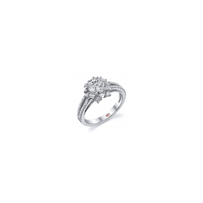 Demarco Demarco DW4867 - 18k White Gold Engagement Ring by Demarco