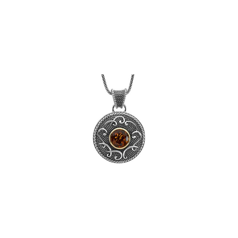 Signature Collection Genuine Madeira Citrine Necklace